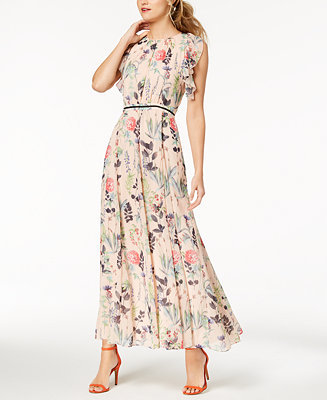 Tommy Hilfiger Floral Print Maxi Dress Dresses Women