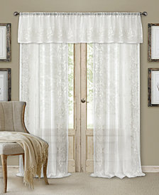 elrene sheer addison window treatment collection - White Sheer Curtains