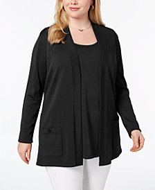 Anne Klein Plus Size Cardigan & Tank Top
