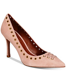 COACH Varick Lace-Up Detail Pumps