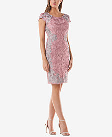 JS Collections Soutache Lace Sheath Dress