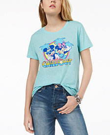 Love Tribe Juniors' Disney Mickey & Minnie Mouse Graphic T-Shirt