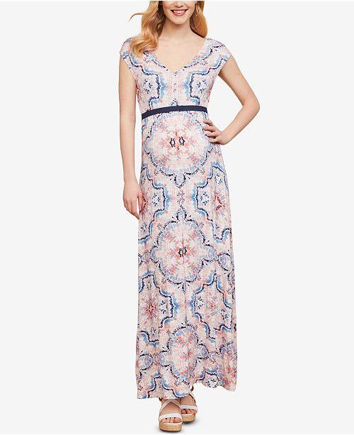 20571d1bb327 Jessica Simpson Maternity Printed Maxi Dress - Maternity - Women ...
