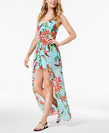 GUESS Uri Floral-Print Walk-Through Romper
