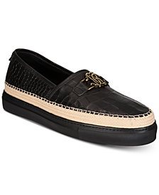 Roberto Cavalli Men's Playa Embossed Leather Slip-Ons