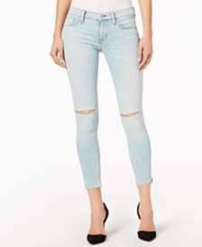 Hudson Jeans Krista Ripped Super-Skinny Ankle Jeans