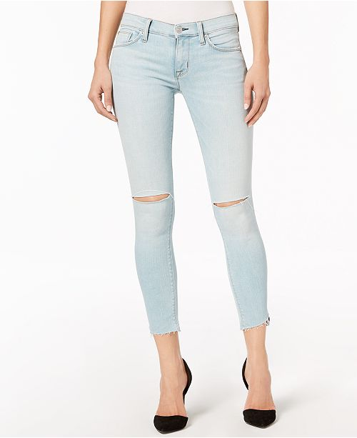 04398068fc4 Hudson Jeans Krista Ripped Super-Skinny Ankle Jeans & Reviews ...