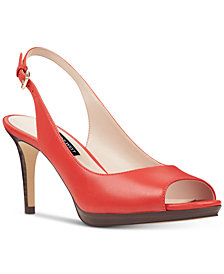 Nine West Gabrielle Slingback Platform Pumps