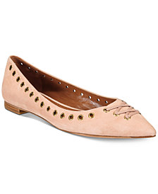 COACH Valerie Lace-Up Detail Flats