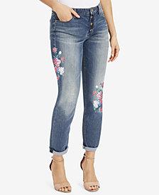 Vintage America Embroidered Boyfriend Jeans