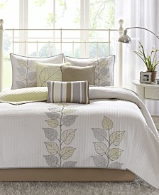 Madison Park Caelie 6-Pc. Quilted Queen Coverlet Set