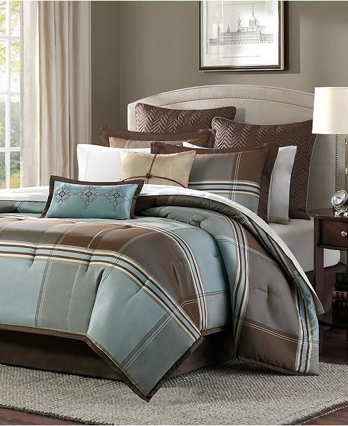 Madison Park Lincoln Square 8-Pc. Queen Comforter Set