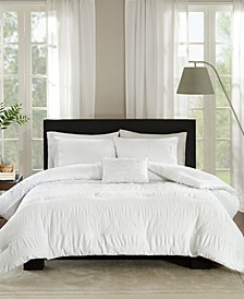 Nicolette Cotton 4-Pc. Full/Queen Duvet Cover Set