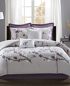 Holly 7-Pc. Full/Queen Duvet Cover Set