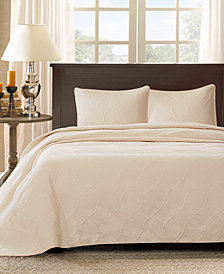 Madison Park Corrine 3-Pc. Quilted Queen Bedspread Set
