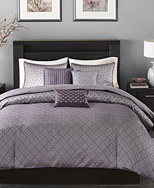 Madison Park Biloxi 6-Pc. Full/Queen Duvet Cover Set