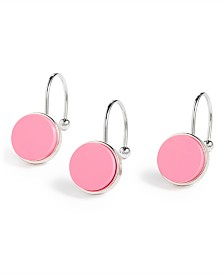 kate spade new york Inset Pink Dot 12-Pc. Shower Curtain Hook Set
