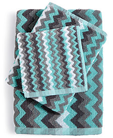 LAST ACT! Cobra Zig-Zag Cotton Jacquard Hand Towel