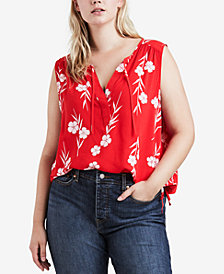 Levi's® Plus Size Chambray Sleeveless Top