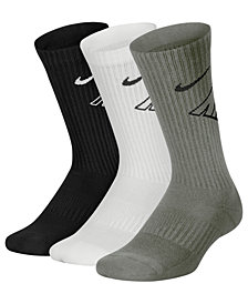 Nike 3-Pk. Cushioned Crew Socks, Little Boys & Big Boys