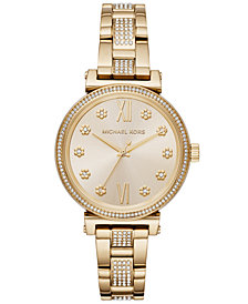 Michael Kors Women's Sofie Gold-Tone Stainless Steel Bracelet Watch 36mm
