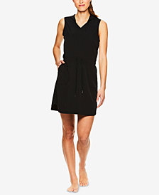 Gaiam Mia Woven Sleeveless Hoodie Dress