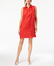 Charter Club Petite Linen Shift Dress, Created for Macy's
