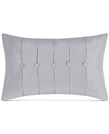 "Molani Pleated Faux-Silk 14"" x 22"" Decorative Pillow"
