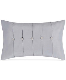 "Charisma Molani Pleated Faux-Silk 14"" x 22"" Decorative Pillow"