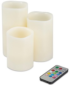 4-Pc. Color Changing Flameless LED Candles Set & Remote Control