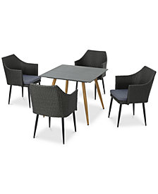 Camden 5-Pc. Outdoor Dining Set, Quick Ship