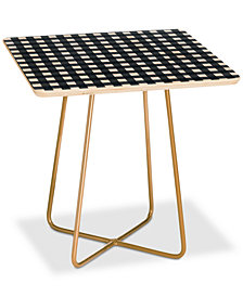 Deny Designs Allyson Johnson Navy Check Square Side Table