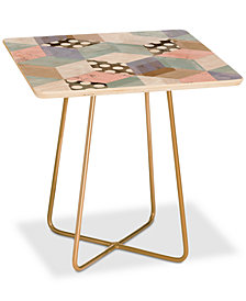 Deny Designs Dash and Ash Breakfast In Bed Square Side Table