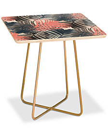 Deny Designs Emanuela Carratoni Pattern Jungle Square Side Table