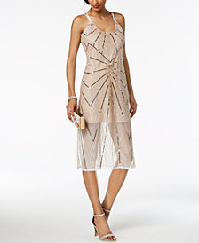 BCBGeneration Sequined Slip Midi Dress