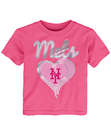 Outerstuff New York Mets Unfoiled Love T-Shirt, Toddler Girls (2T-4T)