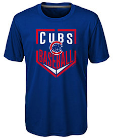 Outerstuff Chicago Cubs Run Scored Poly T-Shirt, Big Boys (8-20)
