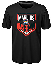 Outerstuff Miami Marlins Run Scored Poly T-Shirt, Big Boys (8-20)