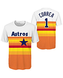 Outerstuff Carlos Correa Houston Astros Coop Poly Player T-Shirt, Big Boys (8-20)