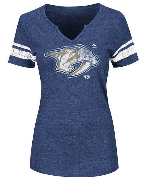 Majestic Women's Nashville Predators Stick to Stick T-Shirt