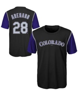 image of Outerstuff Nolan Arenado Colorado Rockies Coop Poly Player T-Shirt, Big Boys (8-20)