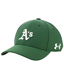 Under Armour Boys' Oakland Athletics Adjustable Blitzing Cap