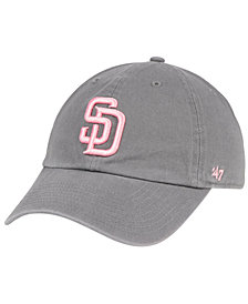 '47 Brand San Diego Padres Dark Gray Pink CLEAN UP Cap