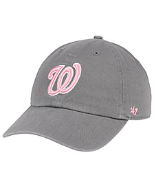 Washington Nationals Dark Gray Pink CLEAN UP Cap