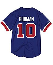 Men's Dennis Rodman Detroit Pistons Name and Number Mesh Crewneck Jersey