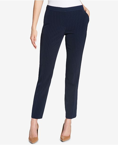 Tommy Hilfiger Striped Ankle Pants