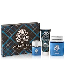 English Laundry Men's 3-Pc. Oxford Bleu Gift Set