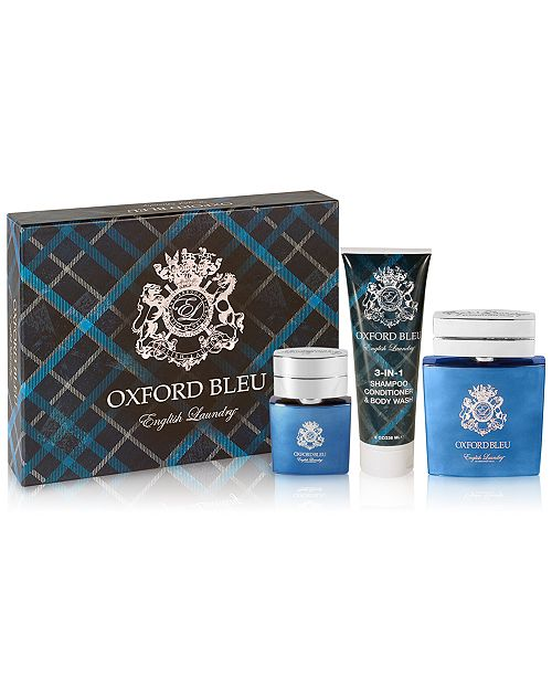 English Laundry Men's 3-Piece Oxford Bleu Gift Set