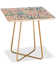 Deny Designs Jacqueline Maldonado Magic Terrazzo Pink Square Side Table