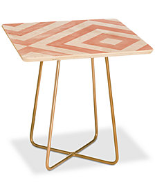 Deny Designs Little Arrow Watercolor Diamonds Square Side Table